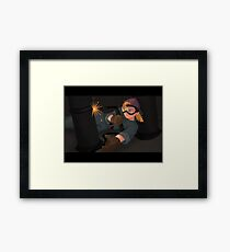 Girl Welding Framed Print
