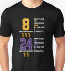 Kobe Bryant Retired Black Mamba 8 24 Tee Shirt TShirt Mug Lakers Jersey Score Slim Fit T-Shirt
