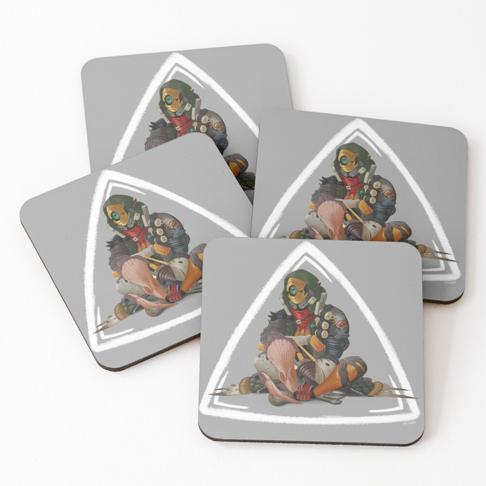 Fl4k and Broodless Coasters (Set of 4)