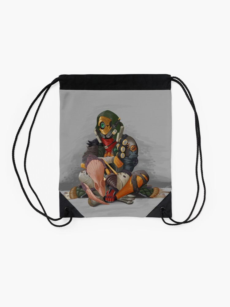 Alternate view of Fl4k and Broodless Drawstring Bag
