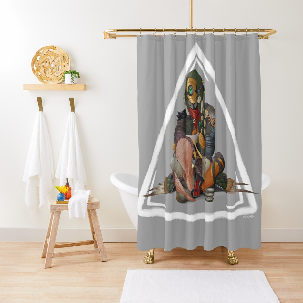 Fl4k and Broodless Shower Curtain
