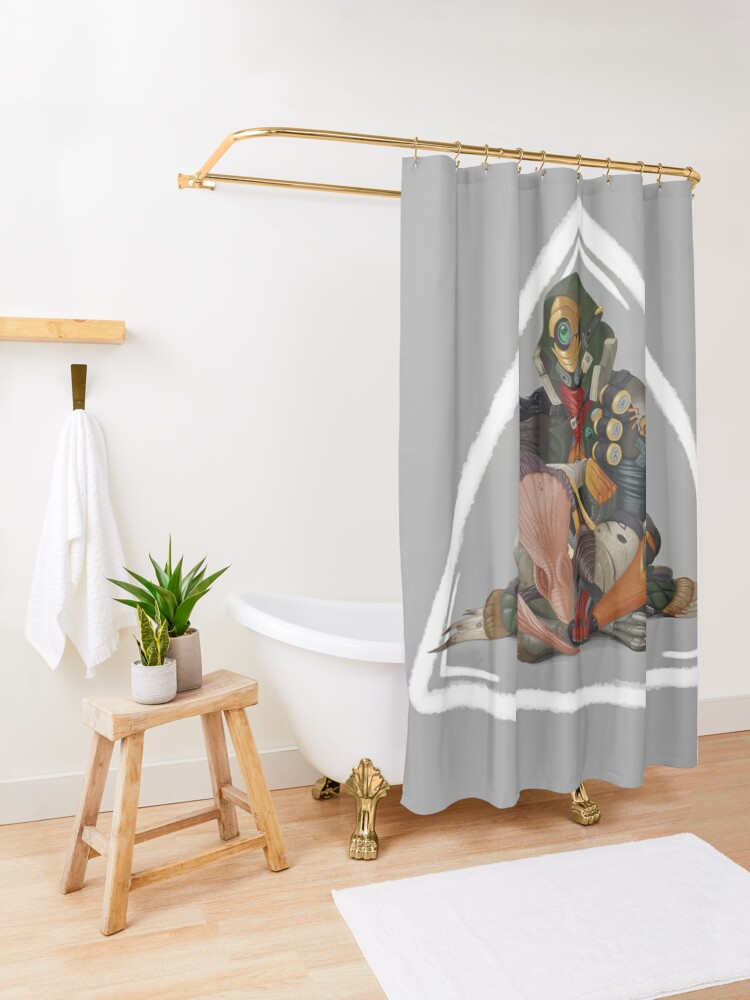 Alternate view of Fl4k and Broodless Shower Curtain