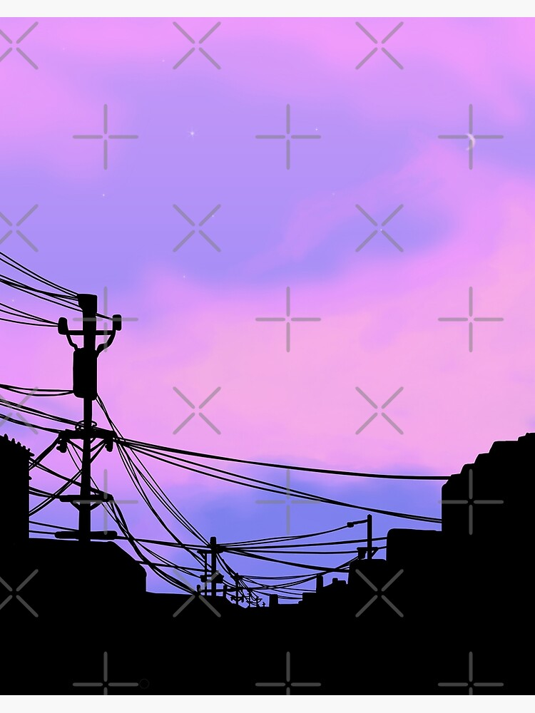 Aesthetic Sunset Japanese Lo Fi Art Board Print By Trajeado14 Redbubble