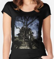 House On Haunted Hill Women's Fitted Scoop T-Shirt