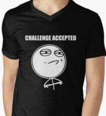 Challenge accepted Mens V-Neck T-Shirt