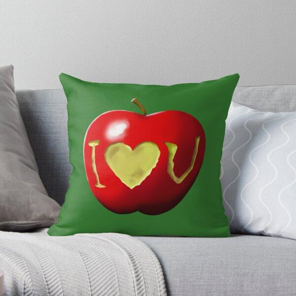 Jim Moriarty's Valentine Apple Throw Pillow