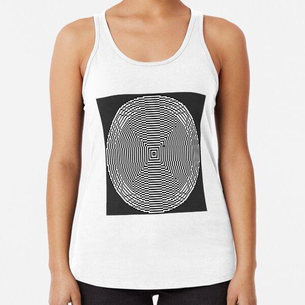 Big pixel circle chart, Psychedelic art. Art movement Racerback Tank Top
