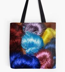 Silks of many colours Tote Bag