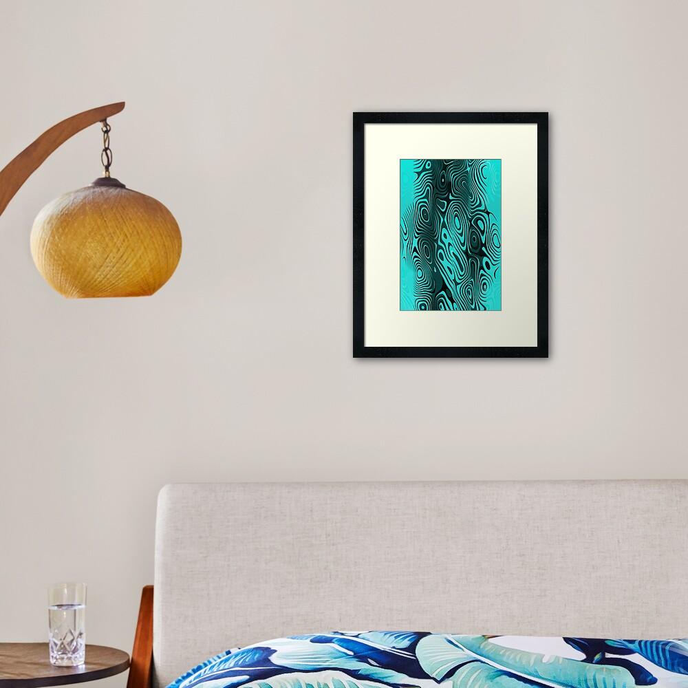 Psychedelic art. Art movement Framed Art Print