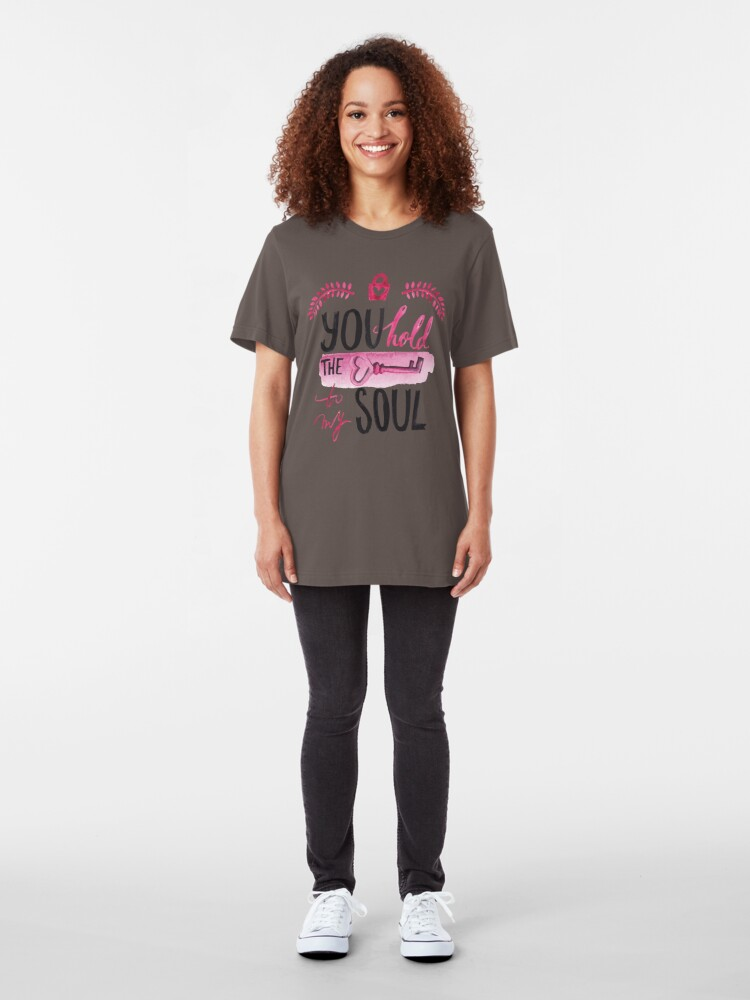 Alternate view of You hold the key to my soul Slim Fit T-Shirt