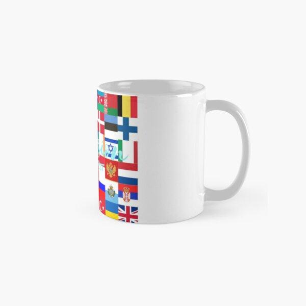 Arte de la bandera de Eurovisión Taza clásica