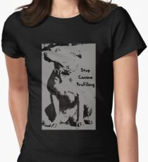 Stop Canine Profiling Women's Fitted T-Shirt