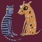 Opposites Attract Cat and Dog by SusanSanford