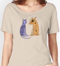 Opposites Attract Cat and Dog Women's Relaxed Fit T-Shirt
