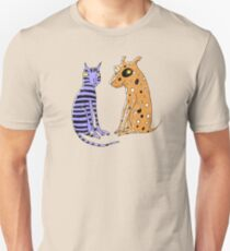 Opposites Attract Cat and Dog Unisex T-Shirt