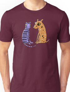 Opposites Attract Cat and Dog T-Shirt