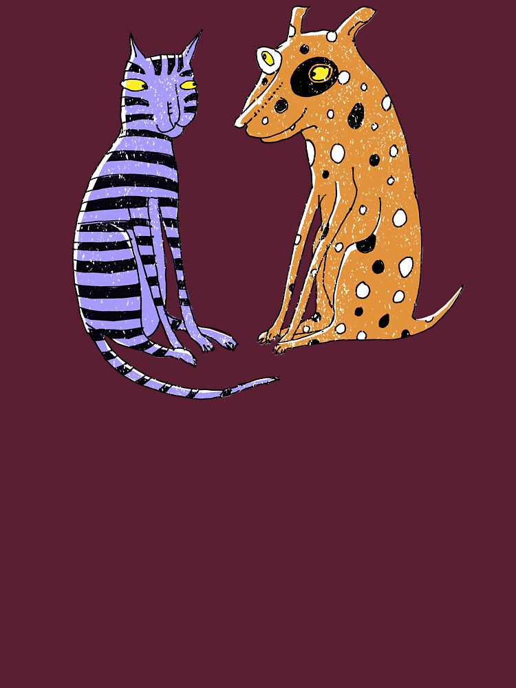 Opposites Attract Cat and Dog | Unisex T-Shirt