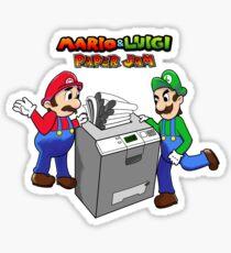 Mario and Luigi Paper Jam Sticker