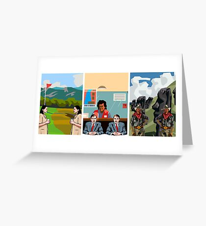 Surreal Triptych 3 Greeting Card