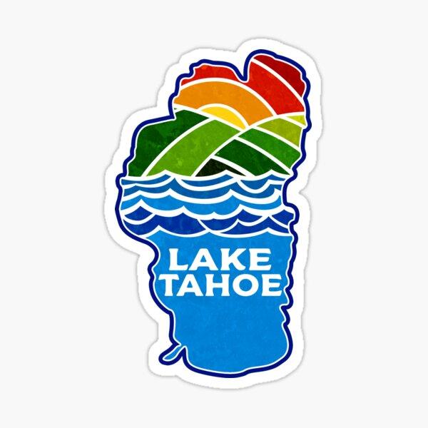 Lake Tahoe California Nevada Skiing Mountains Ski Boating Hiking Sticker