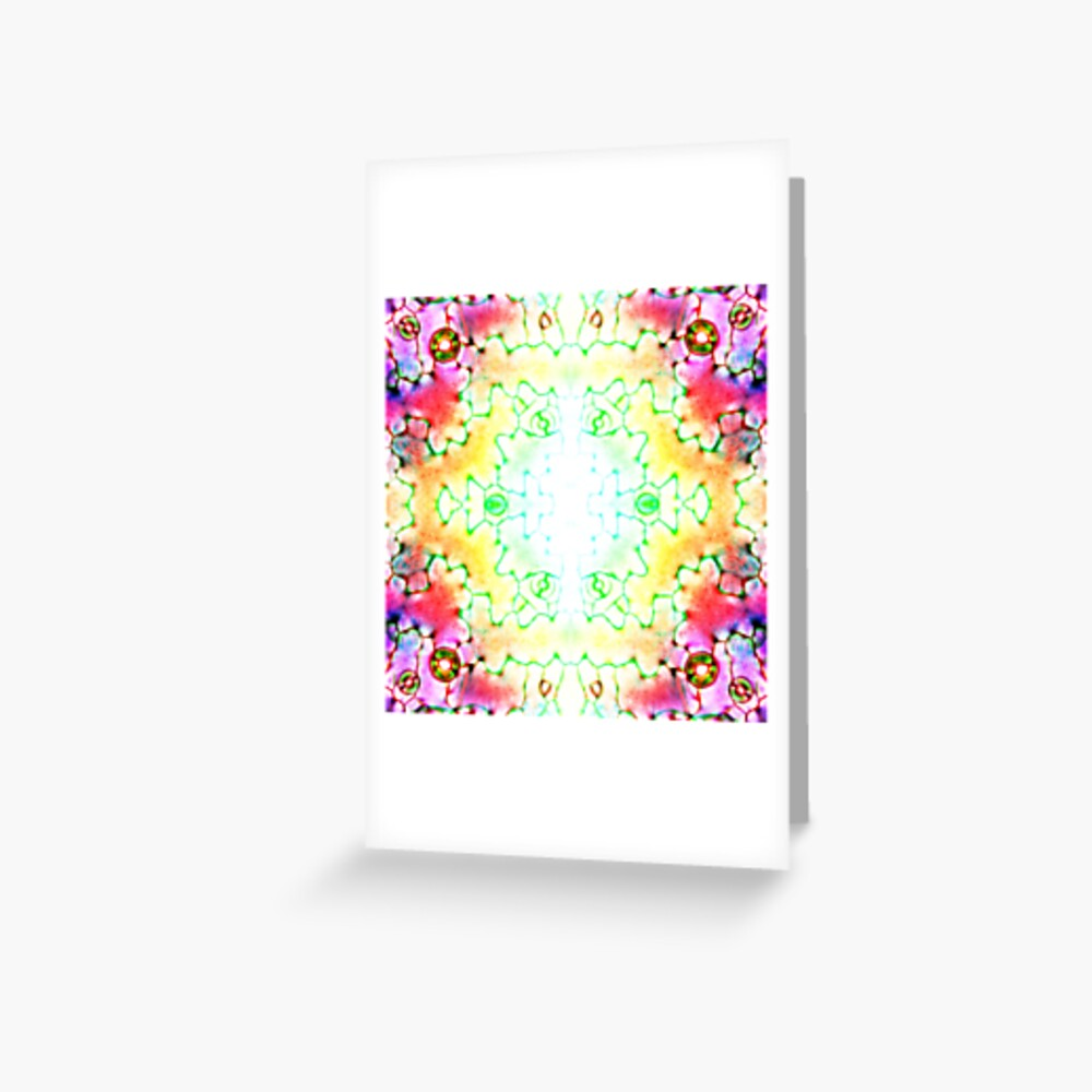 Circle, 2D shape, Kaleidoscope, Psychedelic Art Greeting Card