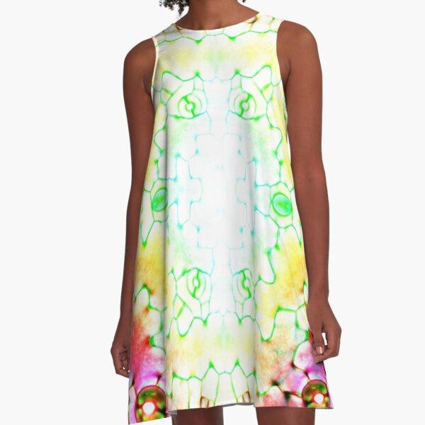 Circle, 2D shape, Kaleidoscope, Psychedelic Art A-Line Dress