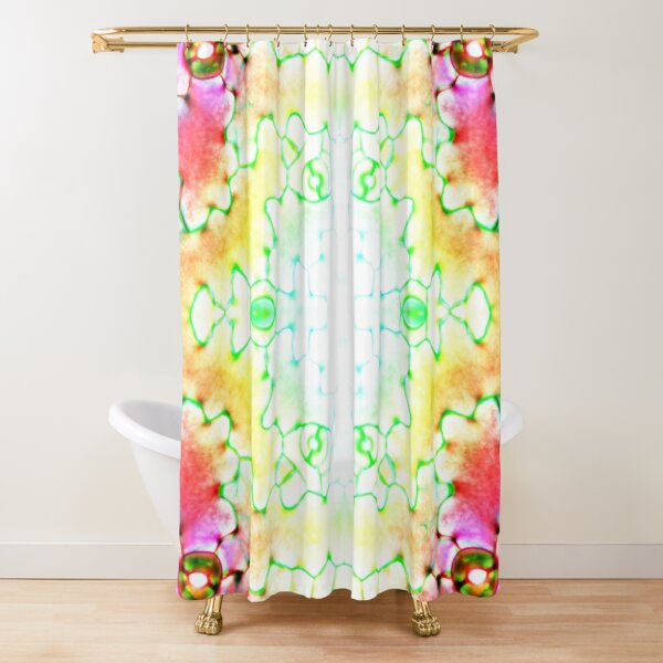 Circle, 2D shape, Kaleidoscope, Psychedelic Art Shower Curtain