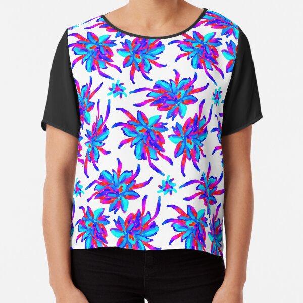 Strange multicolored flowers Chiffon Top