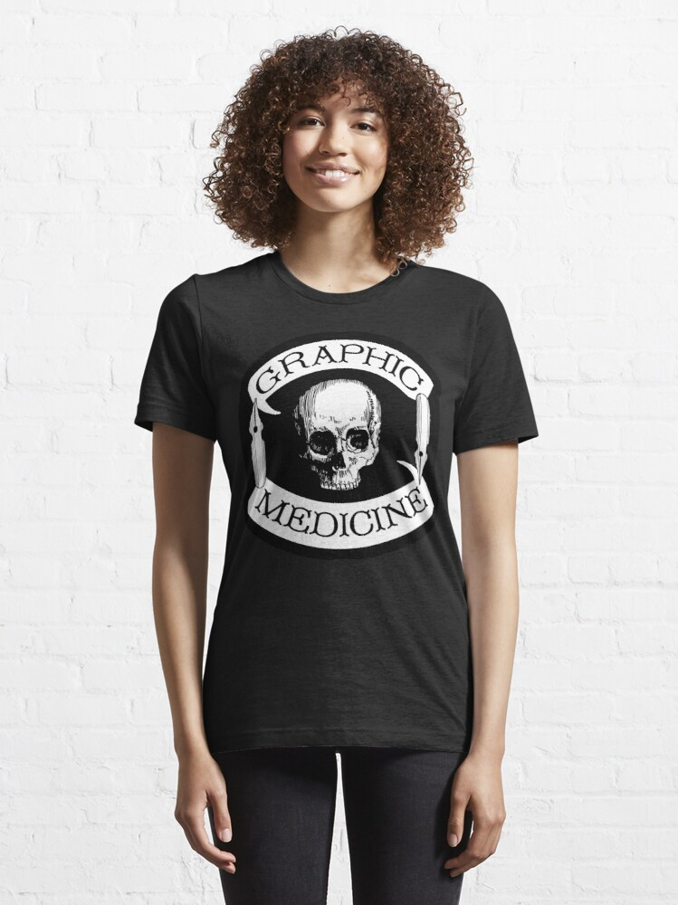 Alternate view of Graphic Medicine 'Colors' logo Essential T-Shirt
