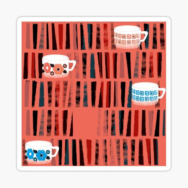 Grandma's coffee cups - a tea in the library? Sticker