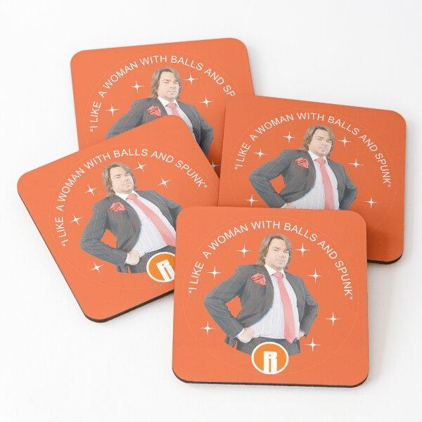 Reynholm Industries - Douglass Reynholm - Funny IT Crowd - It Crowd Gifts - t shirt Coasters (Set of 4)