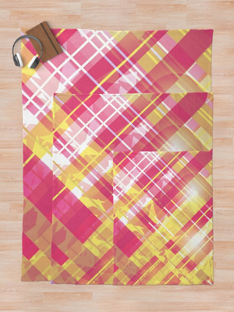 Alternate view of Energetic Metallic Flannel Print Throw Blanket