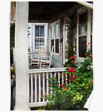 Roses and Rocking Chairs Poster