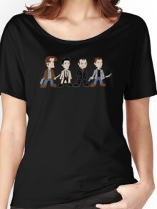 Sam, Dean, Castiel, Crowley Women's Relaxed Fit T-Shirt