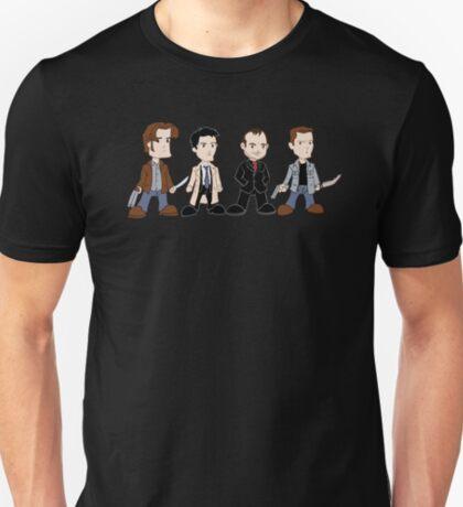 Sam, Dean, Castiel, Crowley T-Shirt