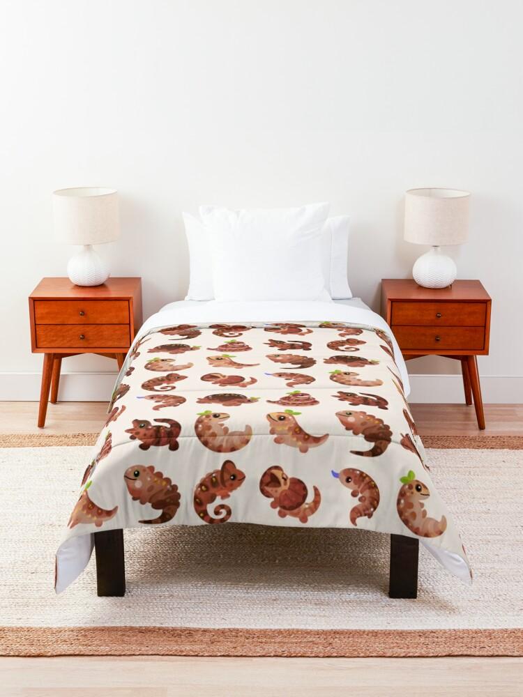 Alternate view of Chocolate Reptiles Comforter