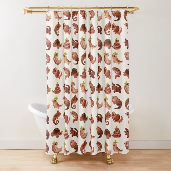 Chocolate Reptiles Shower Curtain