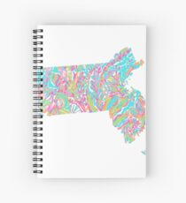 Lilly States - Massachusetts Spiral Notebook