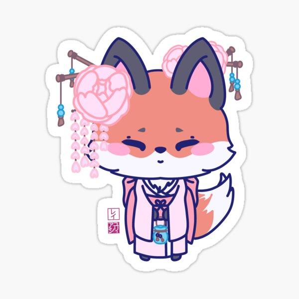Kawaii Kimono Fox Sticker