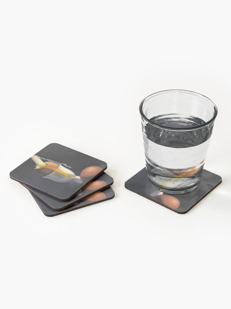 Alternate view of Chicken period (go vegan) Coasters (Set of 4)