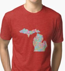 Lilly States - Michigan Tri-blend T-Shirt