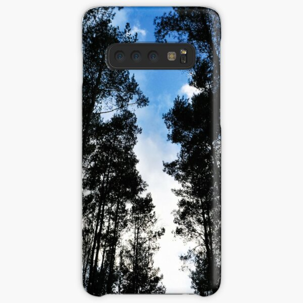 Blue skies and trees at Swinley Forest Samsung Galaxy Snap Case