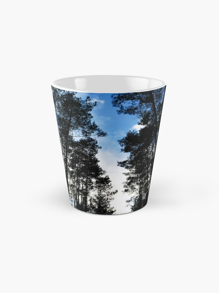Alternate view of Blue skies and trees at Swinley Forest Mug