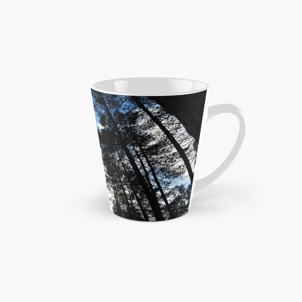 Blue skies and trees at Swinley Forest Mug