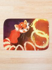 Alfombra de baño Panda rojo