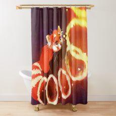 Cortina de ducha Panda rojo