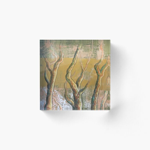 Golden forest Acrylic Block