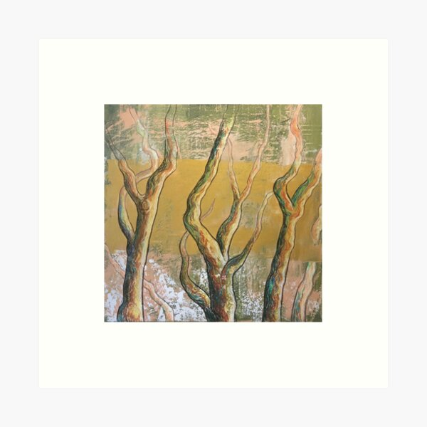 Golden forest Art Print