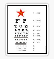 Campaign Memories: Sarah Palin's Eye Chart Sticker