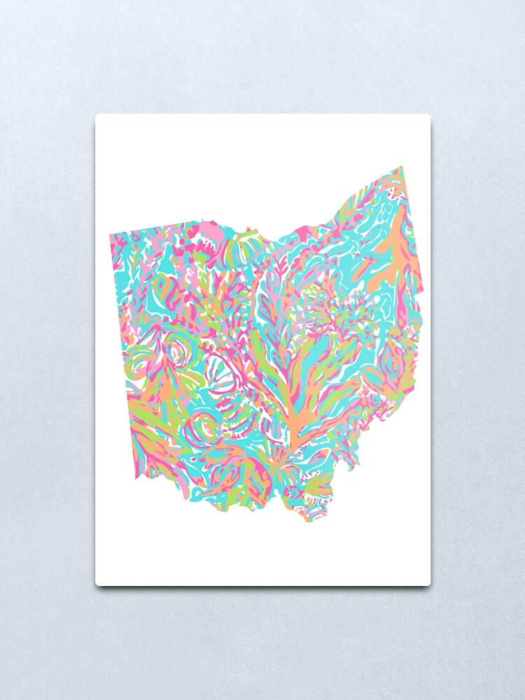 Alternate view of Lilly States - Ohio Metal Print